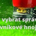 Tipy pro výběr trávníkového hnojiva